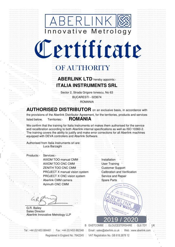 Certificat Aberlink